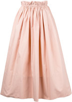 Chloé paper bag waist midi skirt - women - Cotton - 38