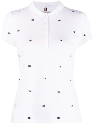 Logo-Print Short-Sleeved Polo Shirt