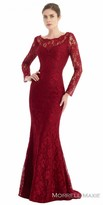 Morrell Maxie Long Sleeve Lace Fit and Flare Evening Dress