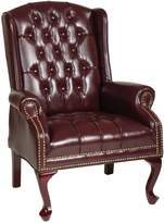 Office Star Work Smart Traditional Queen Ann Chair Tex234-Jt4