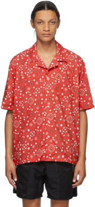 Rhude Red Bandana Hawaiian Short Sleeve Shirt