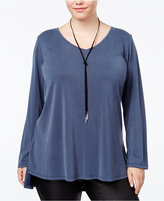 ING Trendy Plus Size Cross-Back Top