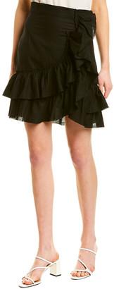 IRO Ruffle Linen-Blend Skirt