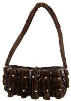 Nancy Gonzalez Mink and Caiman Crocodile Shoulder Bag