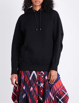 Sacai Drawstring cotton-blend hoody