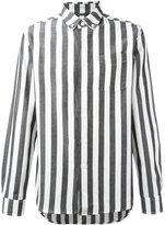 Saturdays NYC striped shirt - men - Cotton/Linen/Flax - XL