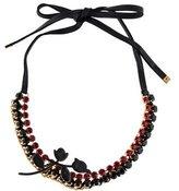 Marni Crystal & Enamel Flower Collar Necklace
