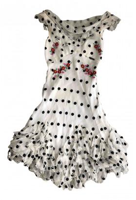 Galliano White Silk Dresses