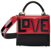 Les Petits Joueurs Alex Mini Black Widow Satchel Bag, Red/Multi