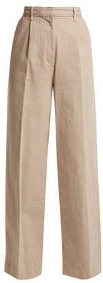 The Row Elin Cotton Denim Trousers - Womens - Beige
