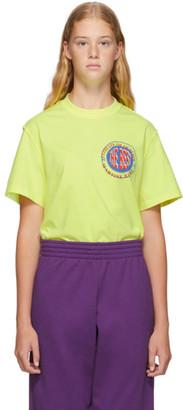 Martine Rose Yellow Inverted T-Shirt