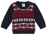 Petit Bateau Baby boys wool and nylon jacquard sweater