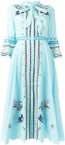 Temperley London embroidered maxi dress - women - Cotton - 12