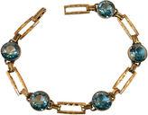 One Kings Lane Vintage Simmons Teal Crystal Bracelet