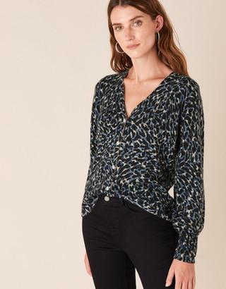Under Armour Leopard Sparkle Button Knit Cardigan Multi