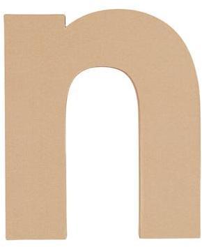 N. Large Crafty Kraft Paper Letter