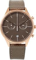 Uniform Wares Grey Leather Strap Cronograph C39 Watch
