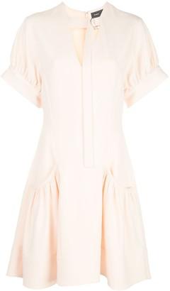 Proenza Schouler Short-Sleeved Crepe Dress