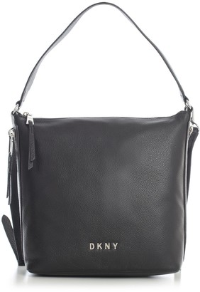 DKNY Tappen Lg Conv Zip Hobo Pebble Leather
