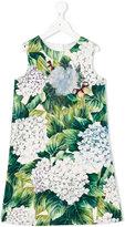 Dolce & Gabbana floral print dress - kids - Silk/Cotton/Spandex/Elastane/PVC - 4 yrs