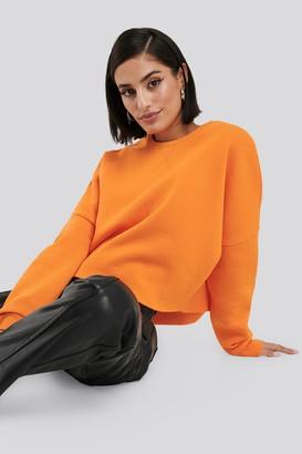 NA-KD Raw Edge Sweater Black
