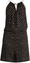 Saint Laurent Polka-dot print dropped-waist dress
