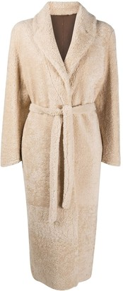 Simonetta Ravizza Shearling Double Breasted Coat