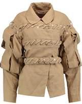 J.W.Anderson Slash Belted Paneled Linen Jacket