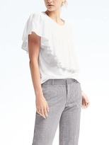 Banana Republic Diagonal Ruffle Supima® Cotton Tee