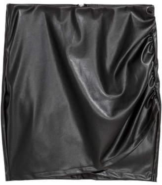H&M Imitation leather wrap skirt