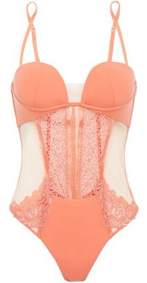 La Perla Lace, Stretch-tulle And Jersey Bodysuit