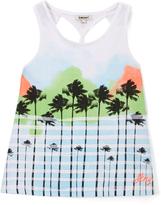 DKNY Bright White Malibu Twist-Back Tank - Girls