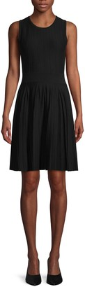 Saks Fifth Avenue Pleated Knit Fit-&-Flare Dress