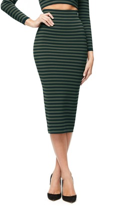 Good American Stripe Pencil Skirt
