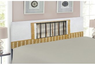East Urban Home Image of Modern Spanish Window and Shutters Upholstered Panel Headboard Size: Twin