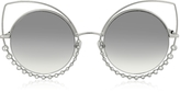 Marc Jacobs MARC 16/S EEIIC Silver Metal and Crystals Cat Eye Women's Sunglasses
