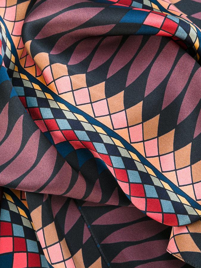 Paul Smith Damson print scarf