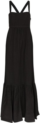 HONORINE Athena flared maxi dress