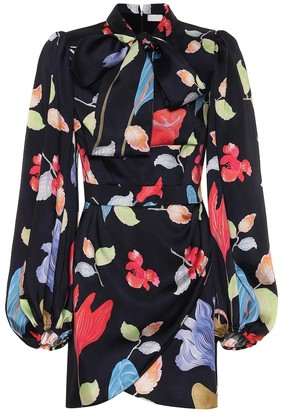 Peter Pilotto Floral twill minidress