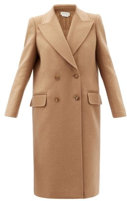 Alexander McQueen Double-breasted Camel-hair Coat - Camel