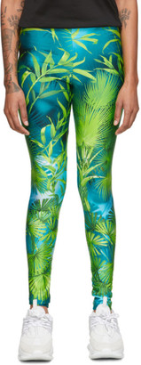 Versace Green Jungle Leggings