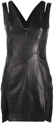 Just Cavalli Leather Mini Dress