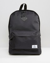Asos Backpack In Black With Patch