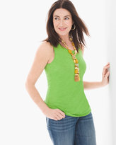 Chico's Cotton Slub Scoop-Neck Tank