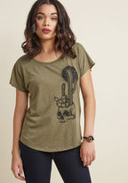 ModCloth Plant and Rave Graphic Tee in S - Short Sleeve Regular Waist