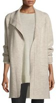 Eileen Fisher Boiled Wool Funnel-Neck Coat