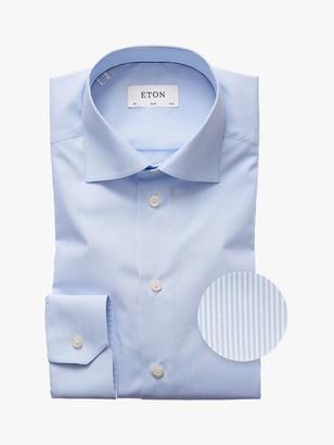 Eton Fine Stripe Slim Fit Shirt, Blue