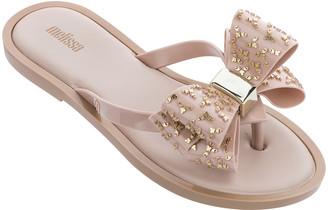 N. Melissa Shoes Sweet Bowed Flip Flop Sandals