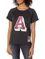 A|X Armani Exchange Women's Short Sleeved Relaxed Fit Shirt with Sequins A Graphic