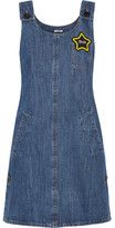 Miu Miu Appliquéd Denim Mini Dress - Mid denim
